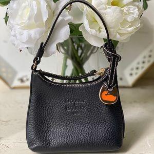 """Dooney & Bourke Black Leather """"Bitsy"""" Bag"""